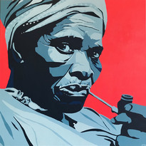 Old Woman Smoking a Pipe