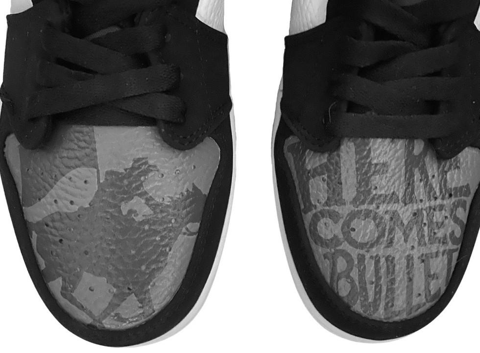 """Go Pokes"" OSU custom Nike Jordan 1s"