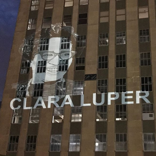 Clara Luper projection