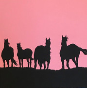 Sunrise and There are Four Horses Looking Right at You