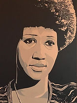 portrait of Aretha Franklin by Jack Fowler