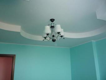 Окраска потолков и стен