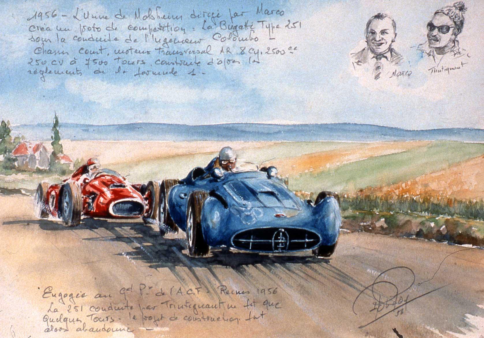 La 251 au Grand Prix de Reims