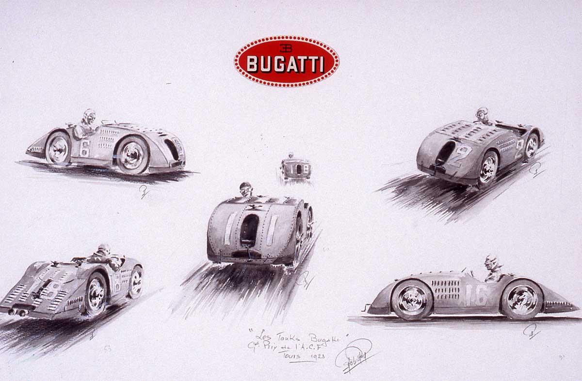 Les premiers tank Bugatti en 1923