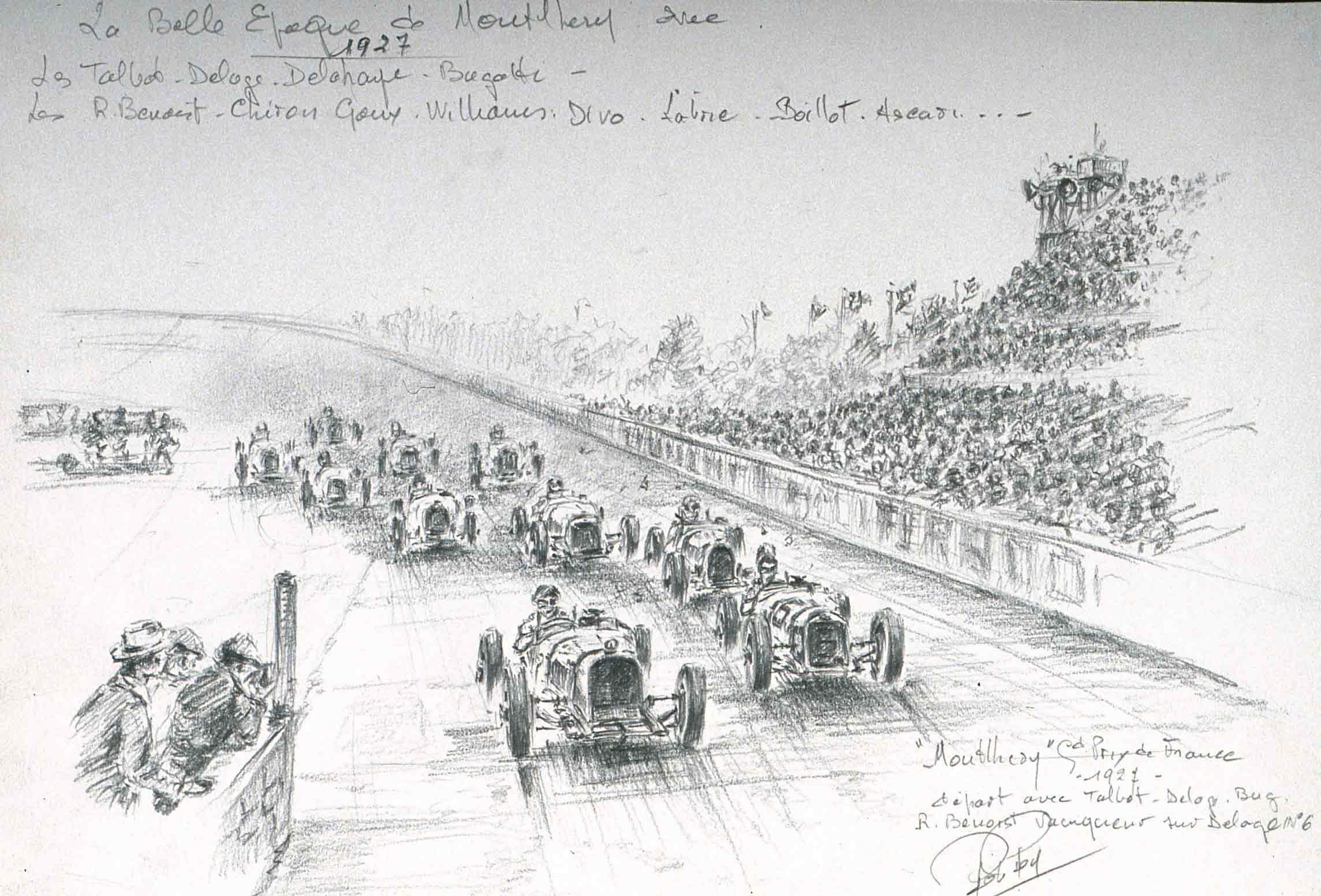 Grand Prix ACF 1927 Départ