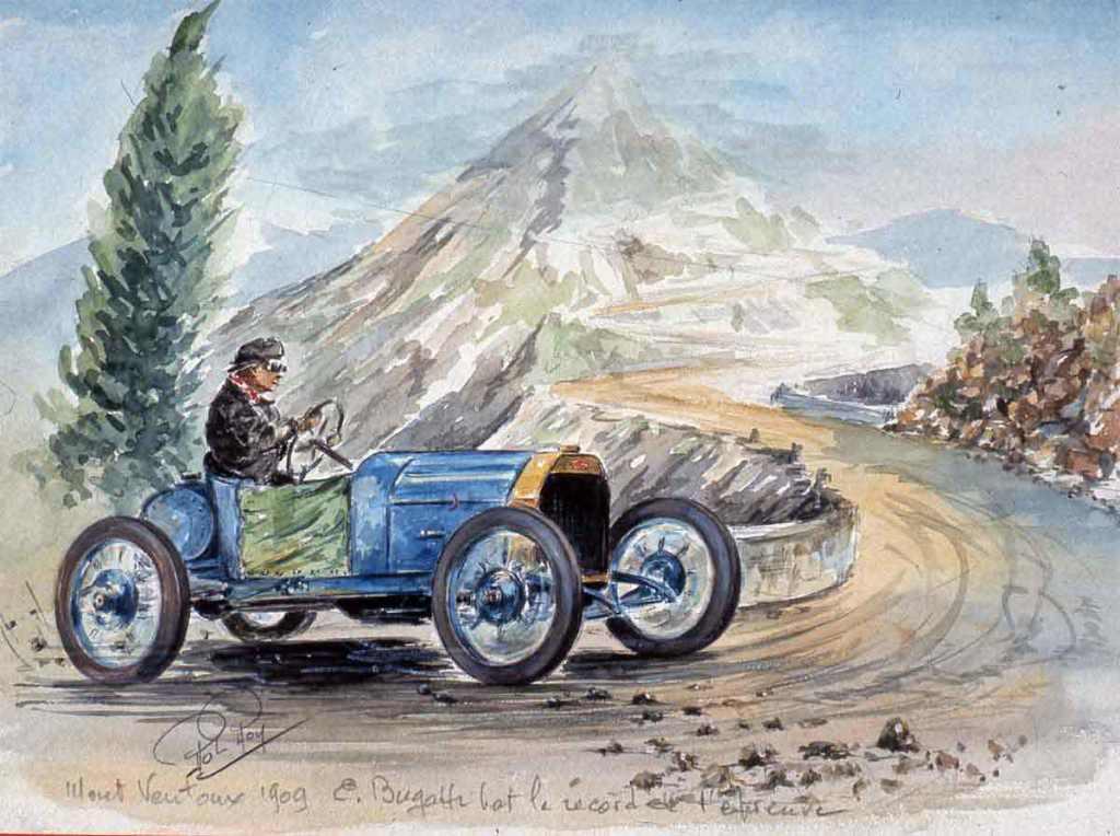 Mont Ventoux 1909 Bugatti