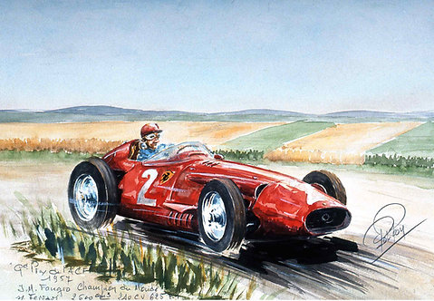 Fangio 1957  40x60 Papier Rives