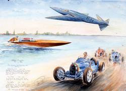 Bugatti sur terre, sur l eau et dans les airs
