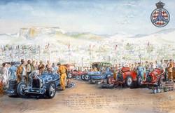 Depart du Grand Prix de Monaco 1934