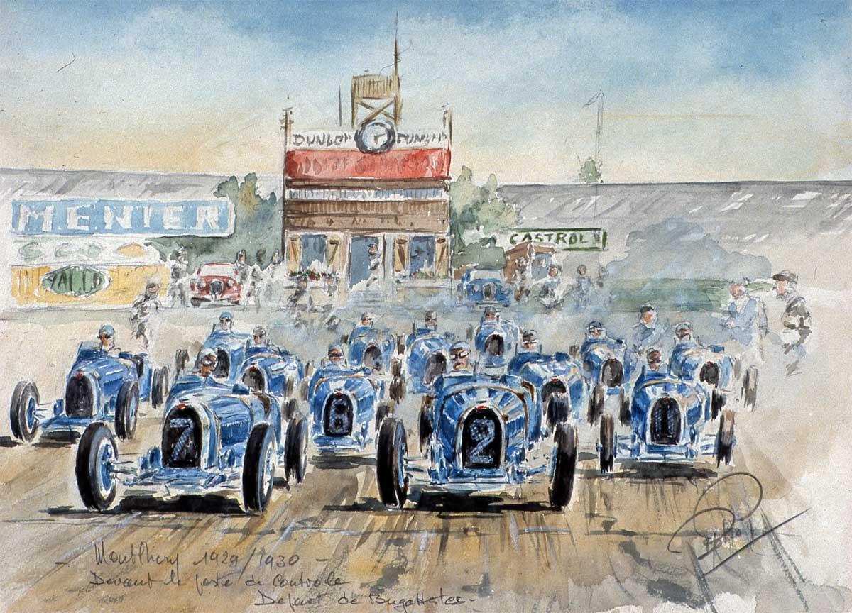 Une meute de Bugatti à Montlhery