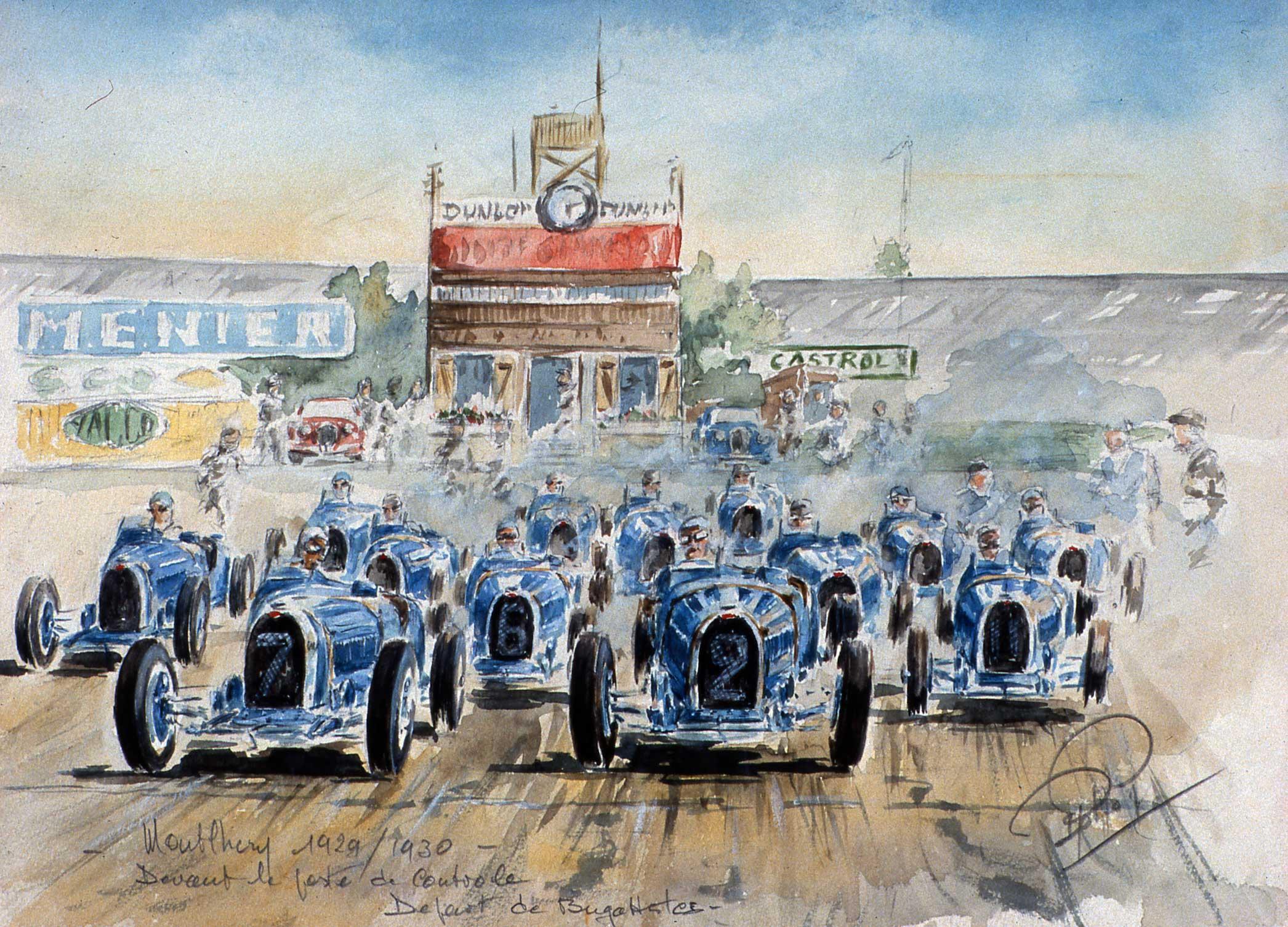 Montlhery Les Bugattistes 1929