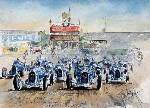 Les Bugattistes 1929 Papier d'Art