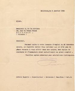 Lettre d'Ettore