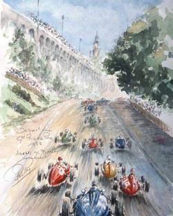 Grand Prix de Pau 1952 depart