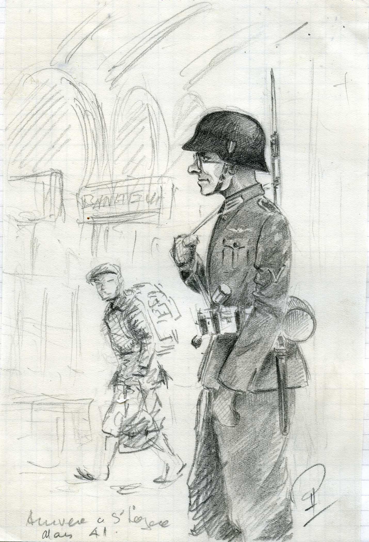 Rob Roy arrive Gare Saint -Lazare le 15 mars 1941.