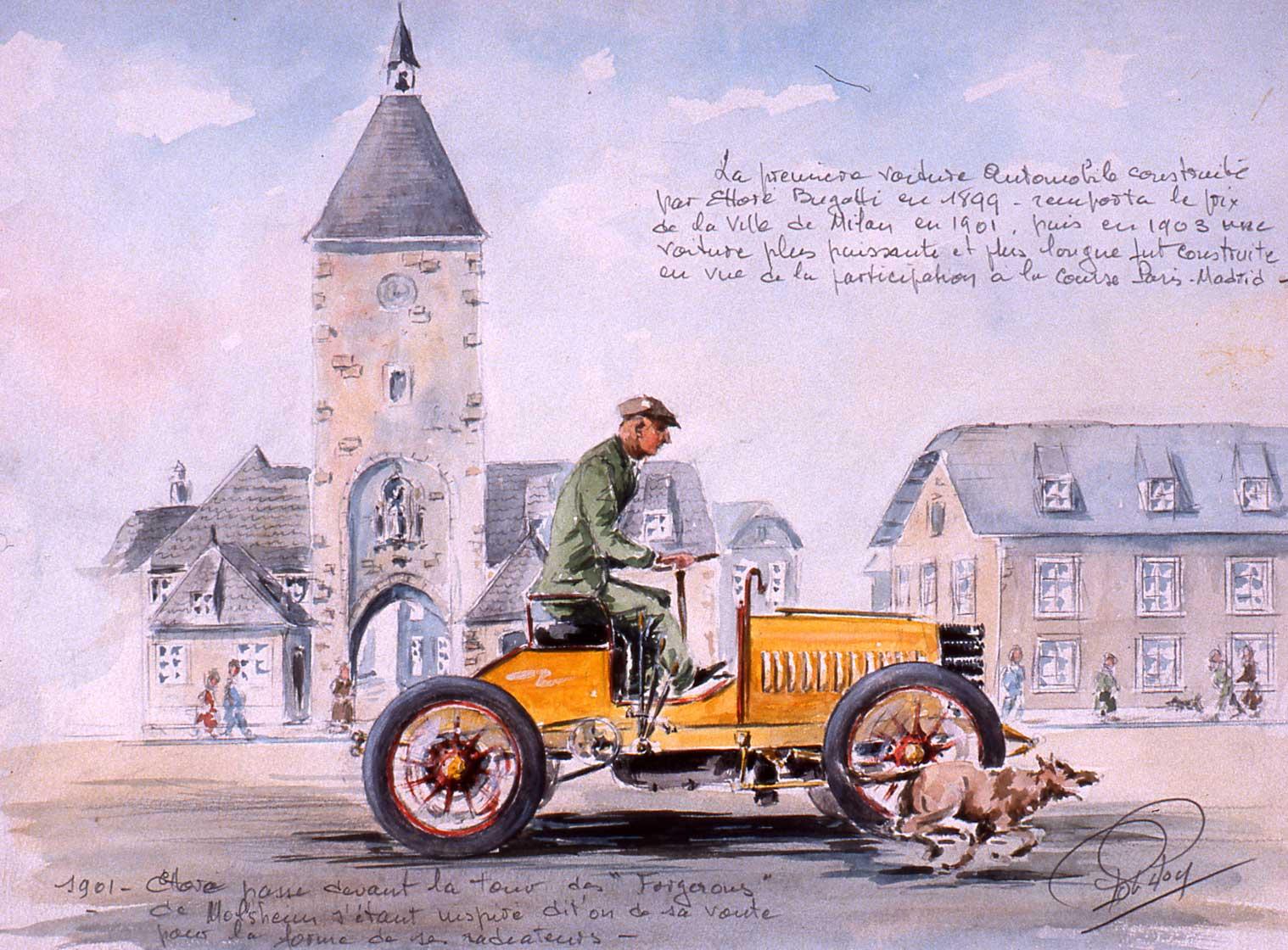 Les automobiles de De Dietrich-Bugatti Ettore 1901