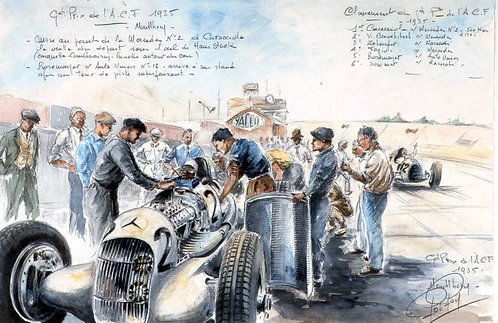 ACF 1935 Mercedes Papier d'Art