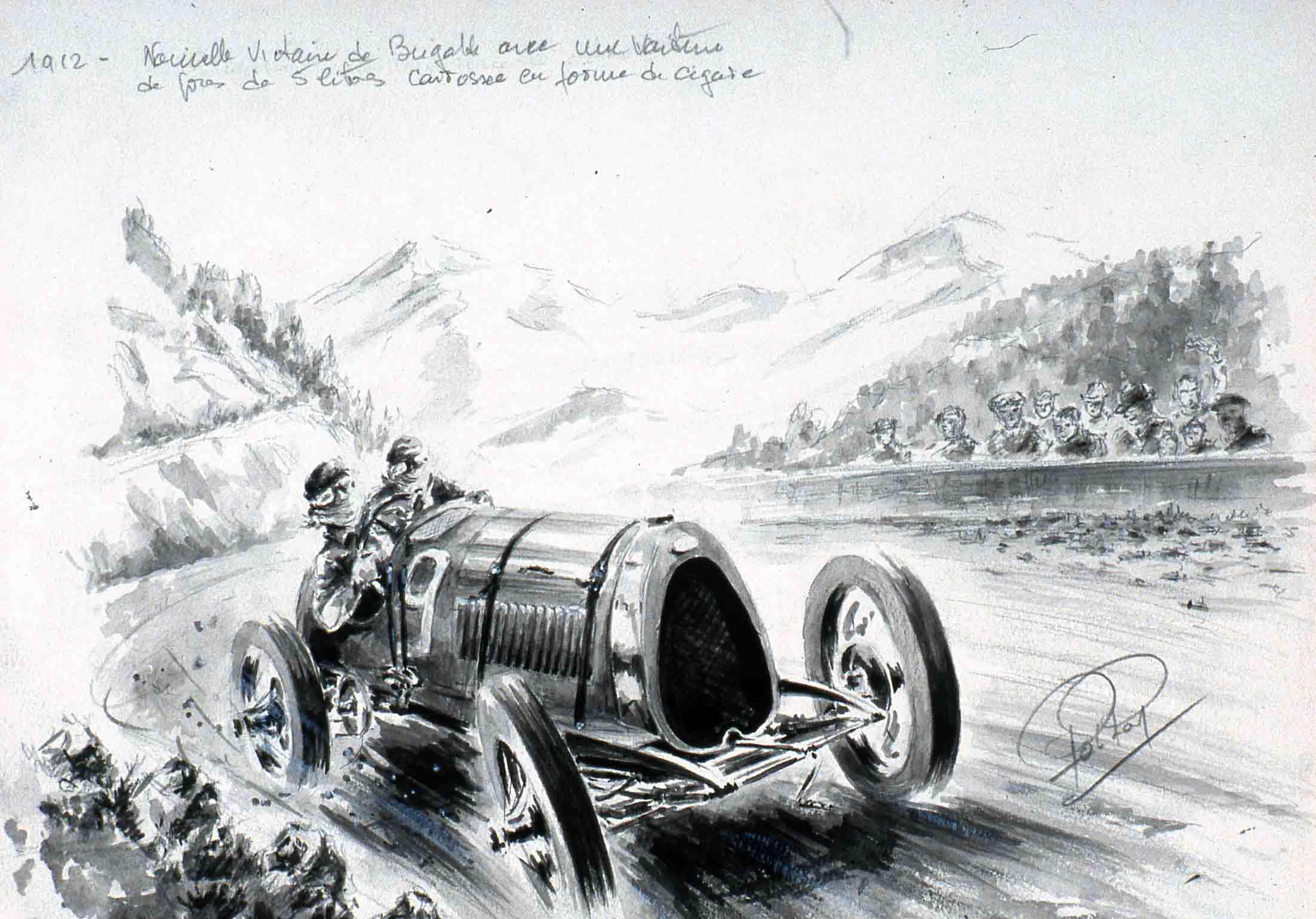 Ettore Bugatti au Mont Ventoux