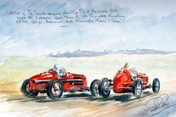 1934 Alfa Rméo et Maserati