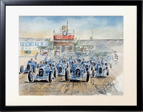 Bugattistes 1929  Black Frame