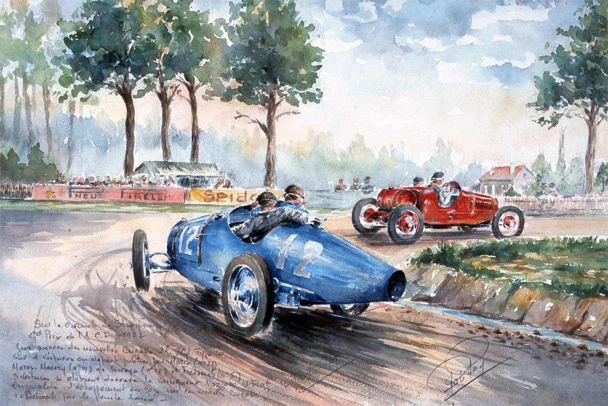 Grand Prix de l'ACF en 1922 à Strasbourg