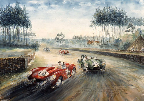 Le Mans 1958 40x60 papier Rives