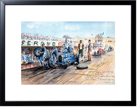 ACF 1931 Bugatti refueling Black Frame