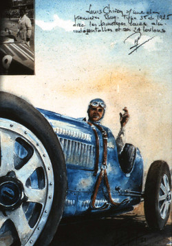 Louis Chiron sur Bugatti type 35
