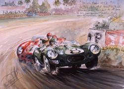 Le Mans 1958 Jaguar Ferrari