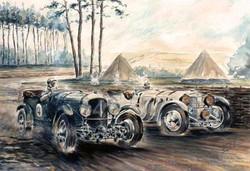 Le Mans 1930 Bentley Mercedes