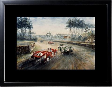 Le Mans 1958 40x60 Black Frame