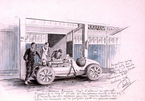 Montlhéry 1936  Mareuse Papier d'Art