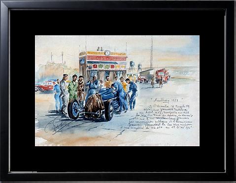 Montlhery 1937 Prime de Course Cadre noir