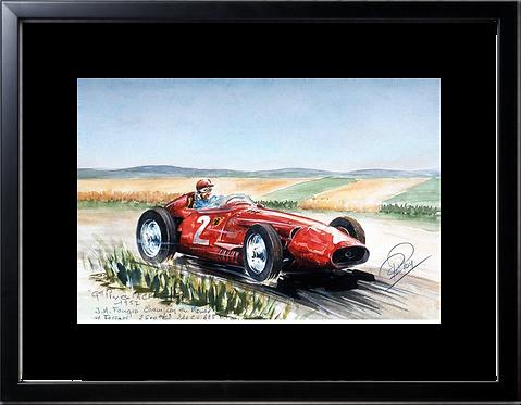 Fangio  1957 40x60 Cadre noir