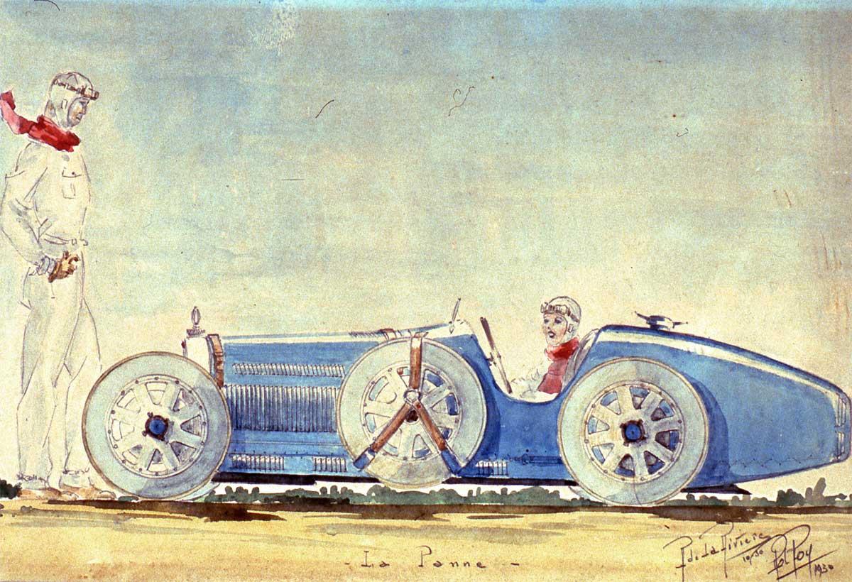 La Bugatti 35 à l arrêt