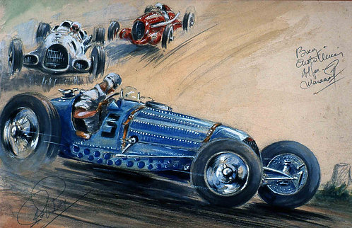Bugatti Auto Union Alfa  40x60 Papier  Rives