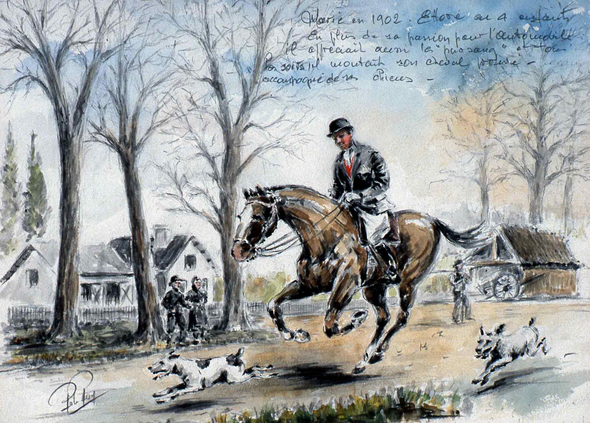 Ettore à cheval