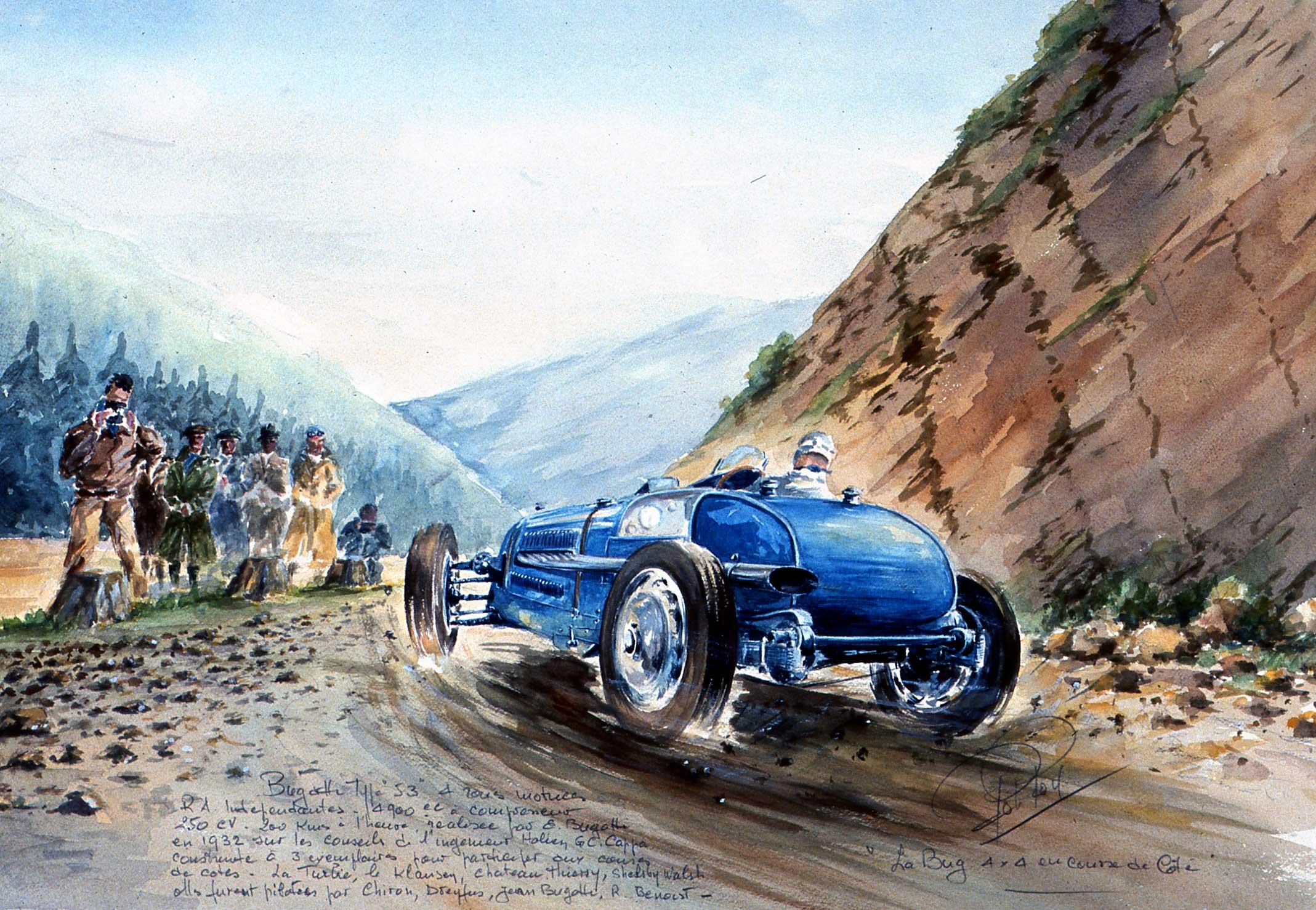 La Bugatti à quatre roues motrices