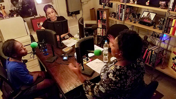Girl Truth Co-hosts Recording Podcast-.j