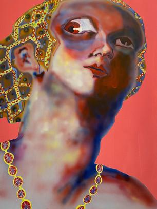 Pug Eyes, 100x80cm, acrylic on canvas