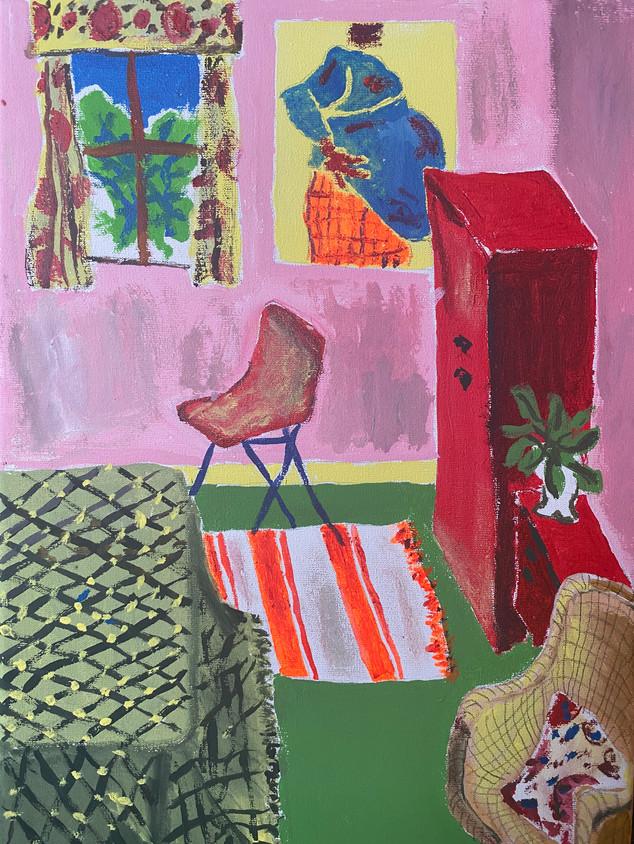 That's a Genuine Ewan Keenan Piece on My Wall, 36 cm x 25 cm, acrylic on canvas