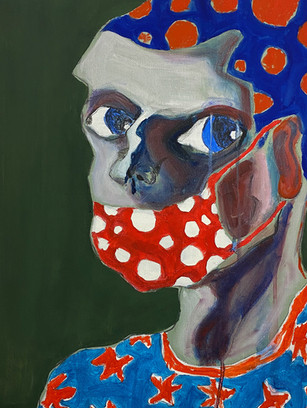 COVER YOUR NOSE TOO, 50 cm x 40 cm, acrylic and gouache on canvas