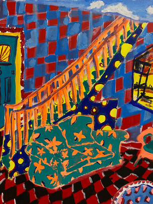 Stairway to Hell, 70x50cm, acrylic on canvas