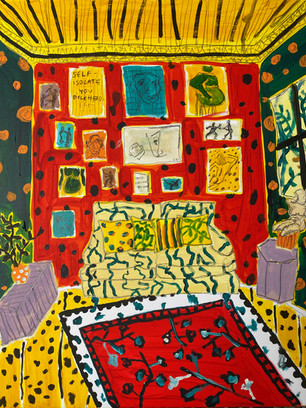 Dream Isolation Room, 40 cm x 50 cm, acrylic on canvas