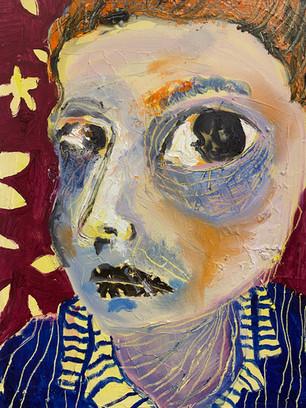 Intense Stare, 40x30cm, oil on canvas