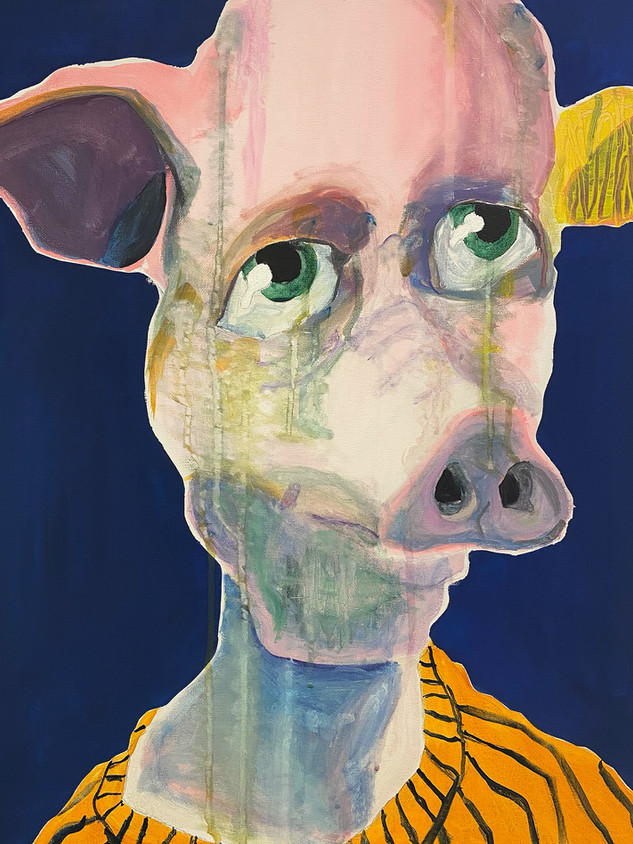 Filthy Pig, 60x45cm, acrylic and gouache on canvas