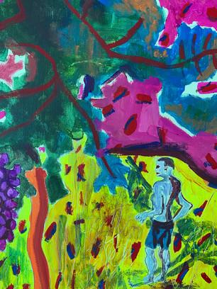 Nature, 36 cm x 25 cm, acrylic on canvas