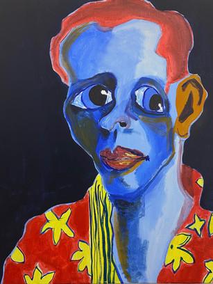 What's Your Favourite Colour? Not Blue, 50 cm x 40 cm, acrylic and gouache on canvas