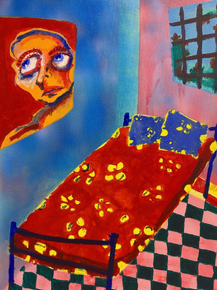 Acid Room, 40x30cm, acrylic on canvas