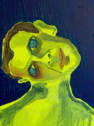 Look at Me When I'm Talking to You, 36 cm x 25 cm, acrylic on canvas